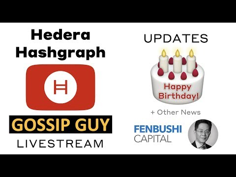 Hedera Hashgraph - Updates with the Gossip Guy (🔴Livestream: Mar 17, 2019)