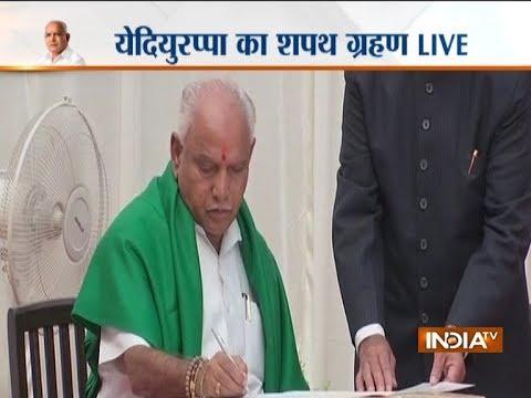BJP Govt in Karnataka: Yeddyurappa takes oath as karnataka CM