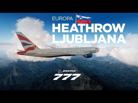 Prepar3Dv4 - Boeing B777-300 / Heathrow → Ljubljana