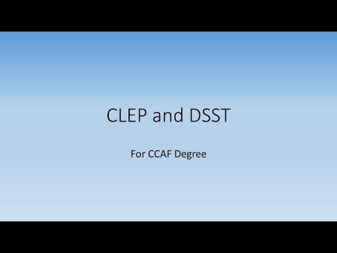 CLEP And DSST Information