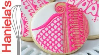 How To Decorate Henna Cookies, Piping On Cookies