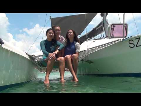 Sailing to Bintan from Singapore on Sprint Corsair trimaran, Cicak
