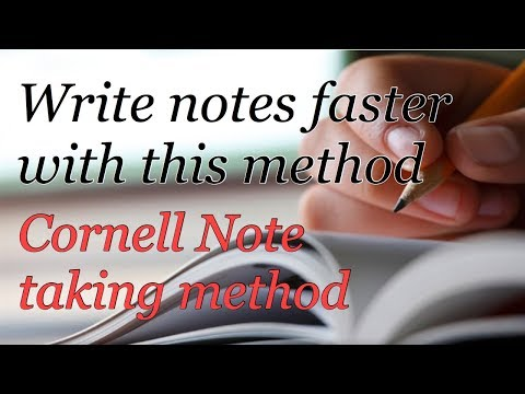 How to write Notes faster & effectively | Cornell Note Taking Method
