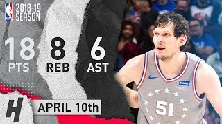 Boban Marjanovic Full Highlights 76ers vs Bulls 2019.04.10 - 18 Pts, 8 Reb, 6 Ast!
