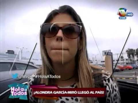 Alondra García Miró opina sobre las indirectas de Mario Irivarren
