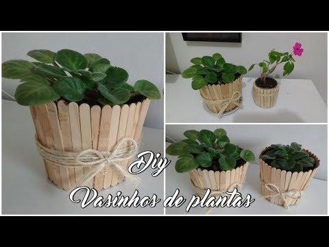 DECORANDO VASINHOS DE PLANTAS ( Lidy Artesanato)