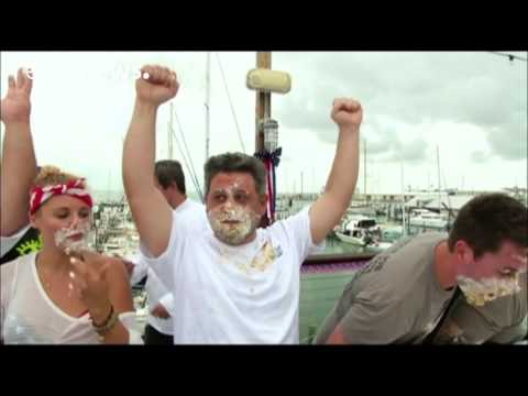 Key lime pie-eating contest in Key West