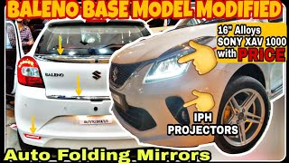 """Baleno Modified   16"""" Alloy, Seat Covers, IPH Projector   Reflector   RS GRILL   Auto Folding Mirror Video"""