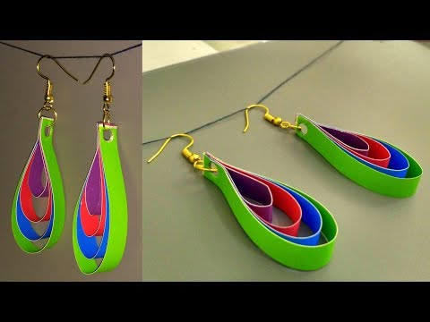 Paper Quilling Earrings New Designs - Quilling Jhumka Earrings