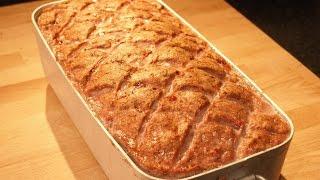 Leberkäse, Fleischkäse selbst hergestellt. meatloaf homemade