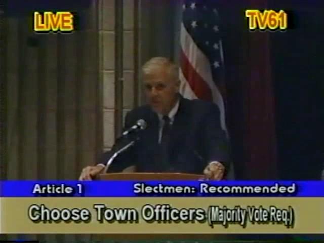 Town Meeting - April 1, 2002