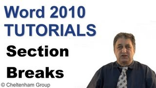 Word 2010 Tutorial | Section Breaks | Full Training Course