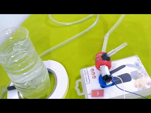 How To Make Powerful Water Pump At Home Using DC Motor | Water Pump Homemade ( Science Project )