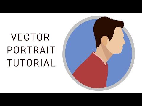 Tutorial Vector Portraits SIMPLE- [autodesk sketchbook pro]