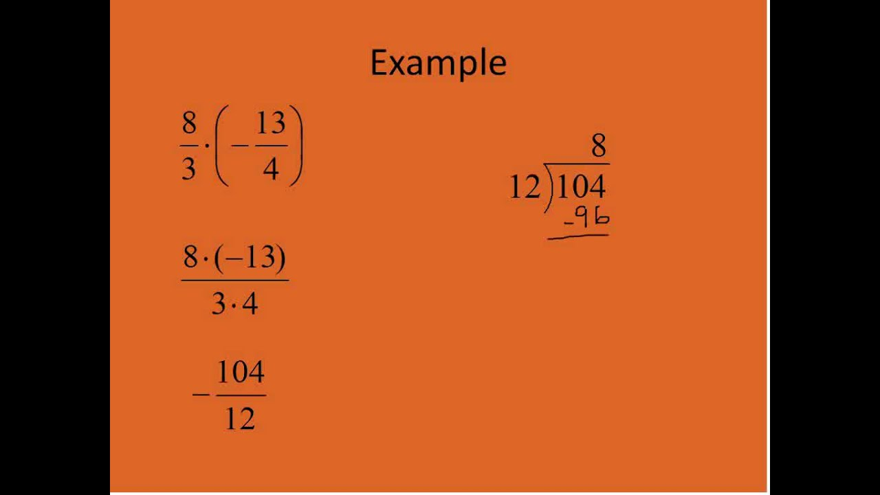 Multiplying And Dividing Mixed Numbers (simplifying Math)