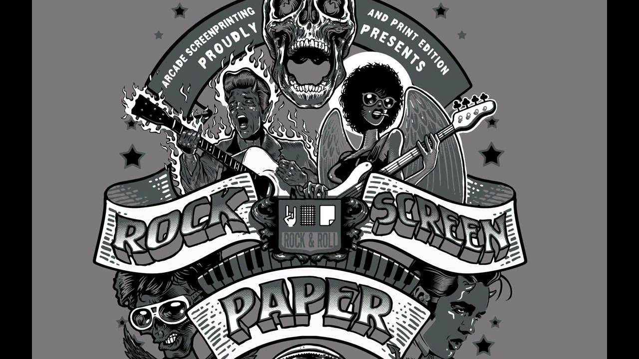 Rock n roll poster design -  Harder Faster Rock N Roll Poster 4 Rock Screen Paper Exhibition Youtube