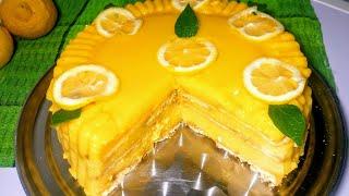 Pastel frío de limón muy facil