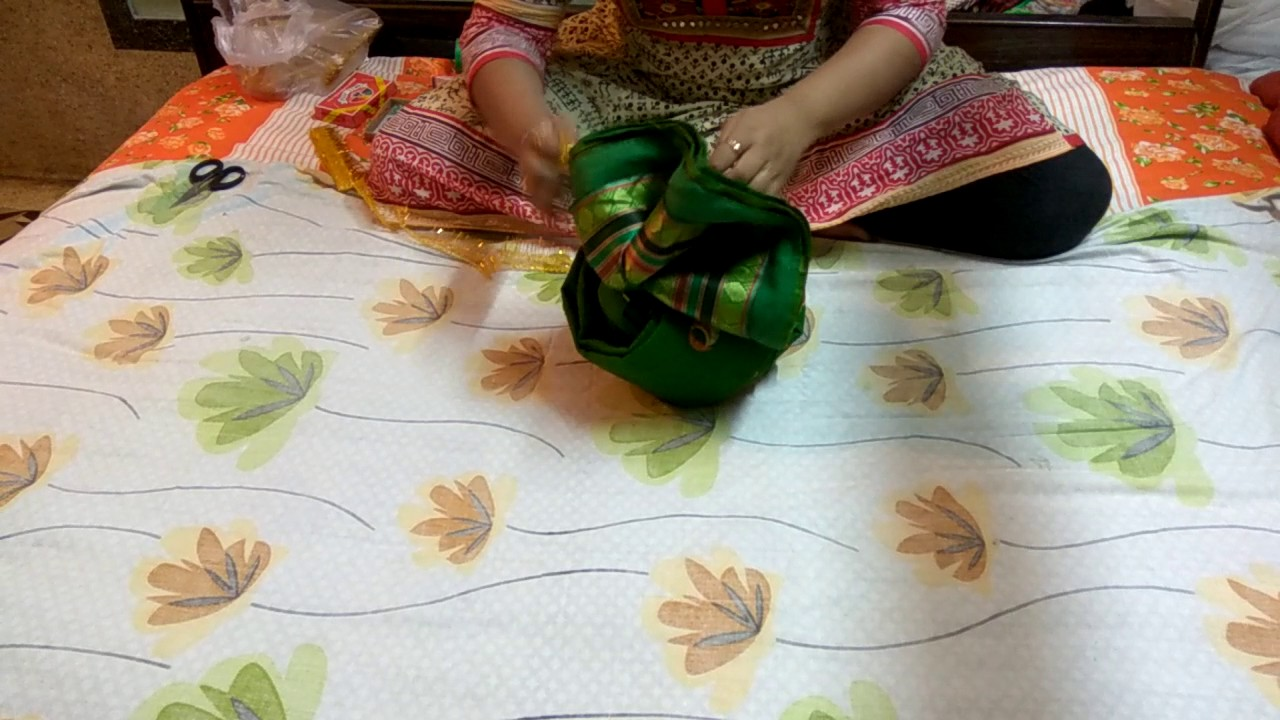How To Make Pagdi Using A Saree Wedding Tray Decoration