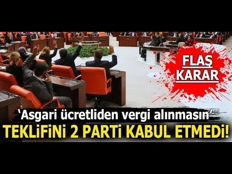Mecliste Asgari Ücretten Vergi Alınmasın Önergesi