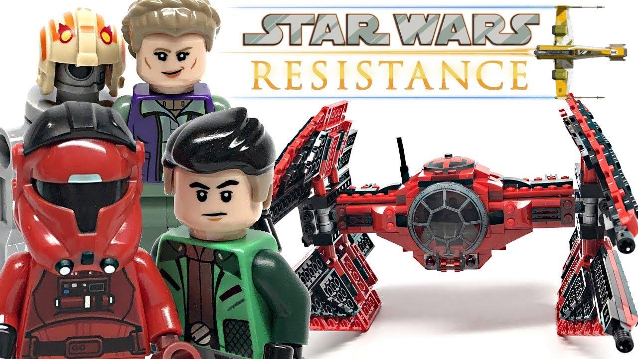Lego Star Wars 75240 Major Vonreg/'s TIE Fighter Star Wars Resistance TV series