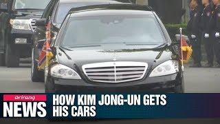 How does Kim Jong-un get his fleet of Mercedes-Benz cars?