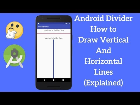 Android Divider - How to Draw Vertical And Horizontal Lines