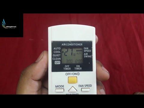 Panasonic ac: sleep timer setup | ac timer on/off