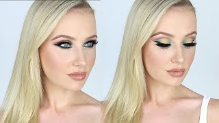 Dramatic OMBRE RAINBOW Eyes + Nude Lip Tutorial! | Lauren Curtis