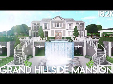 Bloxburg: Grand Hillside Mansion | Speed Build