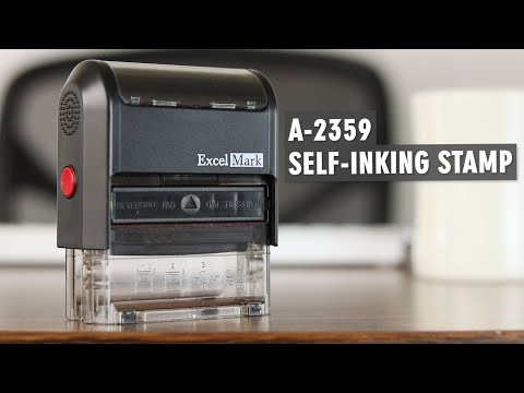 A-2359 Self-Inking Rubber Stamp