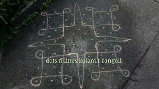13 dots muggulu | 13 pulli sikku/kambi kolam | melikala muggu | how to make knotted rangoli artworks