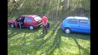 Golf 2 syncro vs Golf 3 syncro part 1.