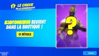 SKIN WINNER OF THE COMMUNITY'S CHOICE! FORTNITE BATTLE ROYALE