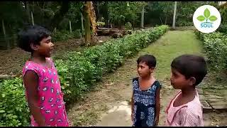 An Act against Child Marriage performed by tribal children at Sundarban West Bengal