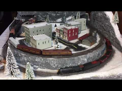 N scale Winter Christmas train layout from start to finish!