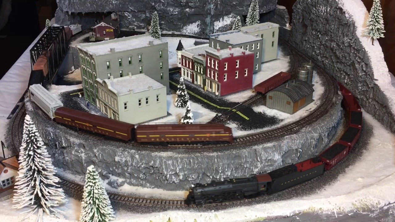 N scale Winter Christmas train layout from start to finish! - YouTube