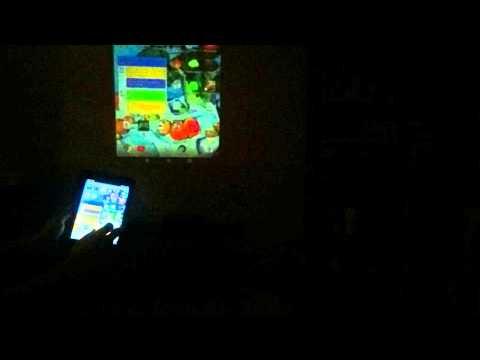 Chromecast With Aaxa Led Pico Projector Youtube