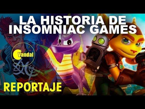 La historia de Insomniac Games