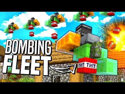 I Made A BOMBING FLEET In Minecraft 1.15