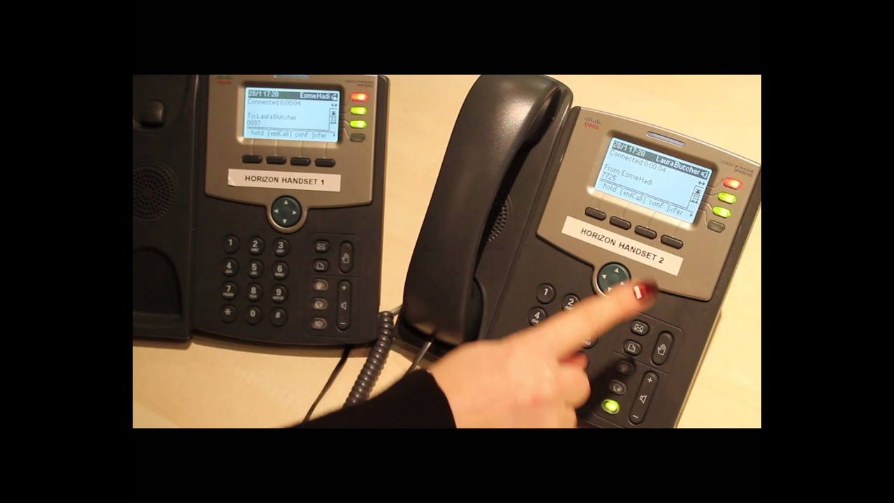 Cisco SPA504G Handsets - How to place the caller on hold by