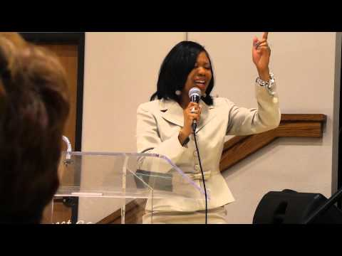Muffy Charles dedicating song to Pastor Lee Cooper for 27th Anniversary Celebration