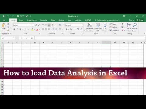 Excel statistical analysis tutorial