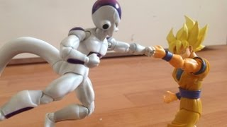 Frieza Vs Goku Stop Motion dragon ball Part 1