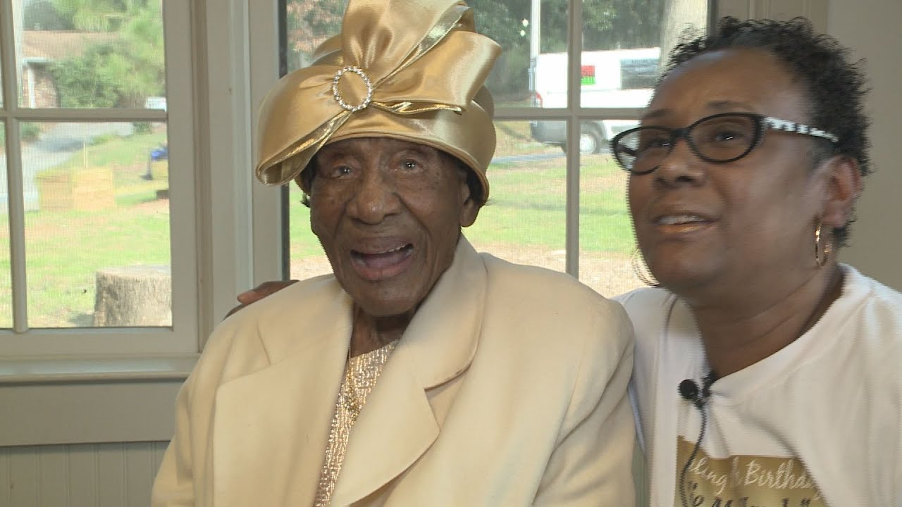 111-year-old Black woman celebrates her birthday party