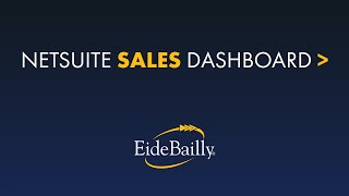 Personalize Your NetSuite Dashboard for Sales
