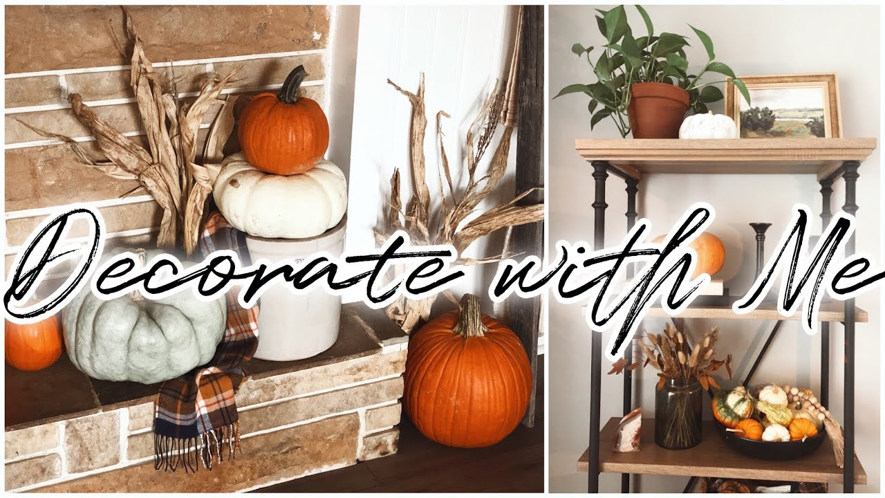 Fall Decorate With Me | Living Room | Modern Traditional Farmhouse | + RH Dupe Shelf!