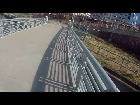 Riding the Schuylkill Banks Boardwalk