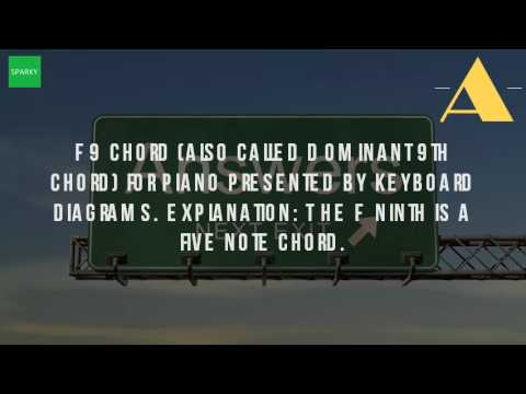 What Is A F9 Chord On Piano Youtube