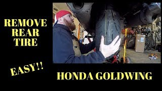 Honda GoldWing Rear Tire Removal EASY