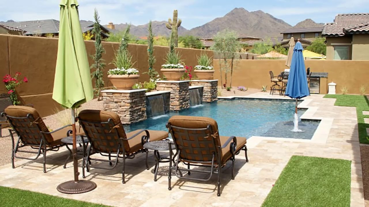 Modern Backyard Arizona Backyard Ideas On A Budget ... on Modern Landscaping Ideas For Small Backyards  id=36668